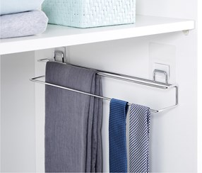 Double Clothes Rail, Chrome