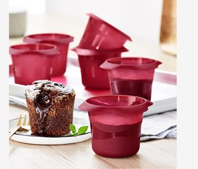 Lava Cakes Baking Moulds Set of 6, Red