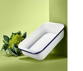 Enamel Baking Dish, White