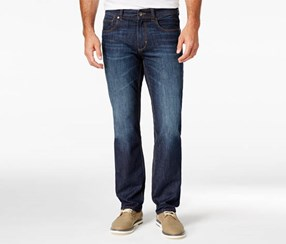 Tommy Bahama Men's Straight-Fit Jeans, Navy Blue