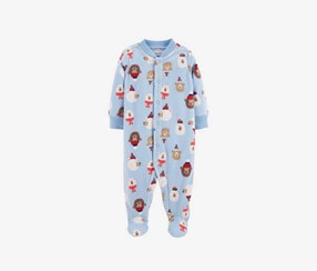Carter's Baby Boys Bear Print Footed Coverall, Blue