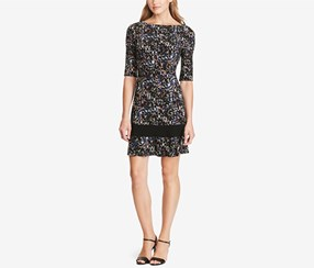 American Living Women's Printed Jersey Dress, Black