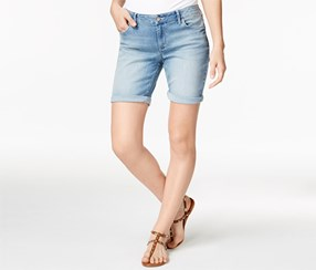 Calvin Klein Women's Jeans Denim Bermuda Shorts, Blue