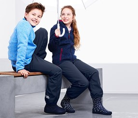 Kid's Soft-Shell Trousers, Navy