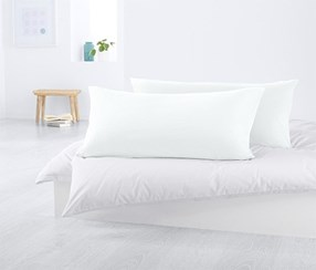 2 Jersey Pillowcases 80 x 40, White