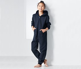Kids Lounge Overall, Navy