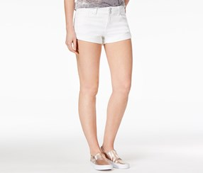 Indigo Rein Women's Ripped Denim Shorts, White
