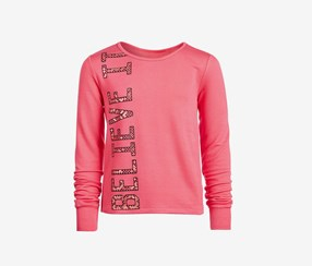 Ideology Big Girls Graphic-Print Sweatshirt, Flamingo Pink