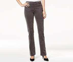 Charter Club Lexington Corduroy Straight-Leg Pants, Gray