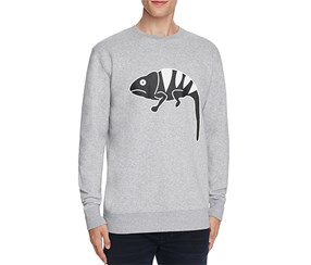 Barney Cools Men's Iguana Graphic Sweatshirt, Grey
