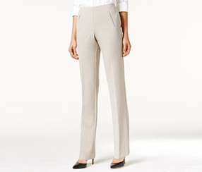 Style & Co. Women's Tummy-Control Pull-On Pants, Beige
