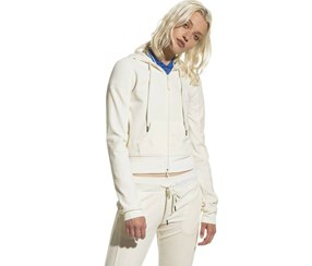 Puma Women's Fenty Velor Fitted Zip-up, Off White