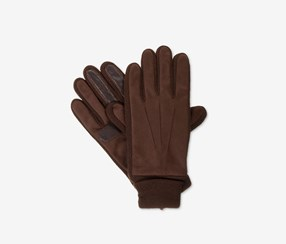 Isotoner Signature Mens Knit-Cuff Gloves, Brown