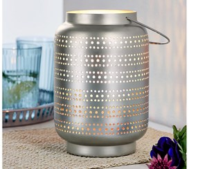 Lantern With Handle, Silver