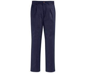 Nautica Boy's Pleated Uniform Pants, Navy