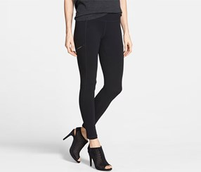 Eileen Fisher Women's Seamed Pull-On Skinny Pants, Black