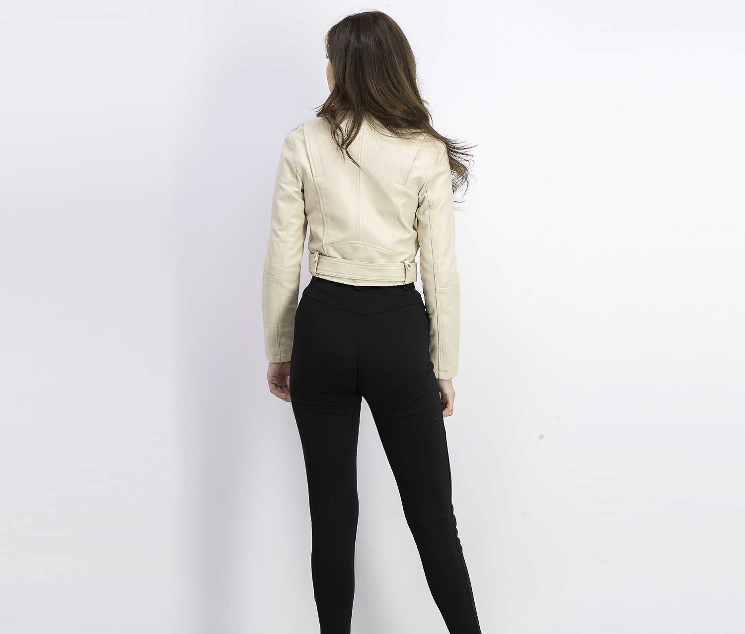 Bershka Womens Faux Leather Jacket Cream Brands For Less