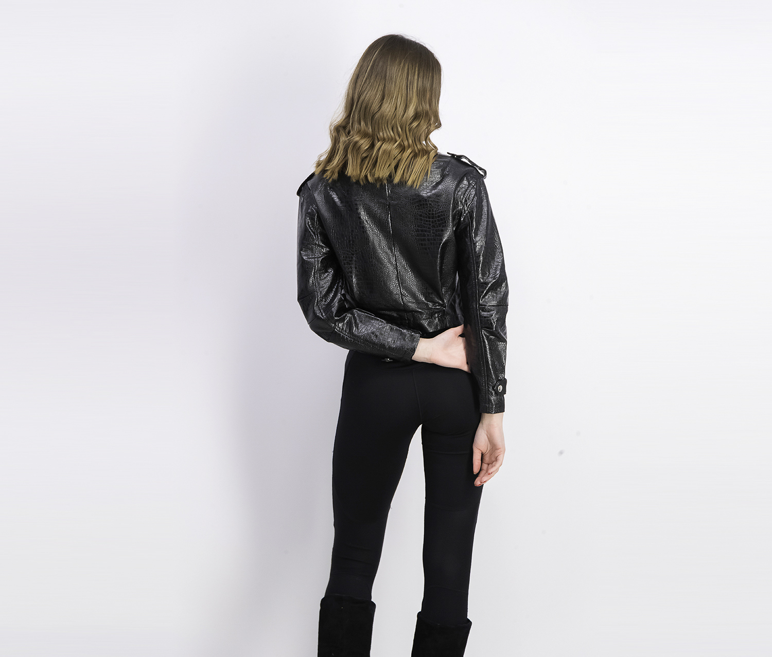 Bershka Womens Faux Leather Jacket Black Brands For Less
