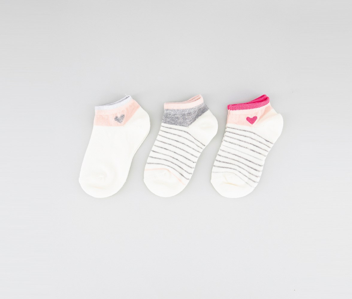 GIRLS COLOURED COTTON ANKLE SCHOOL SOCKS AVAILABLE IN 4 COLOURS /& 3 SIZES 3 PAIRS BOYS Shoe 9-12, Grey