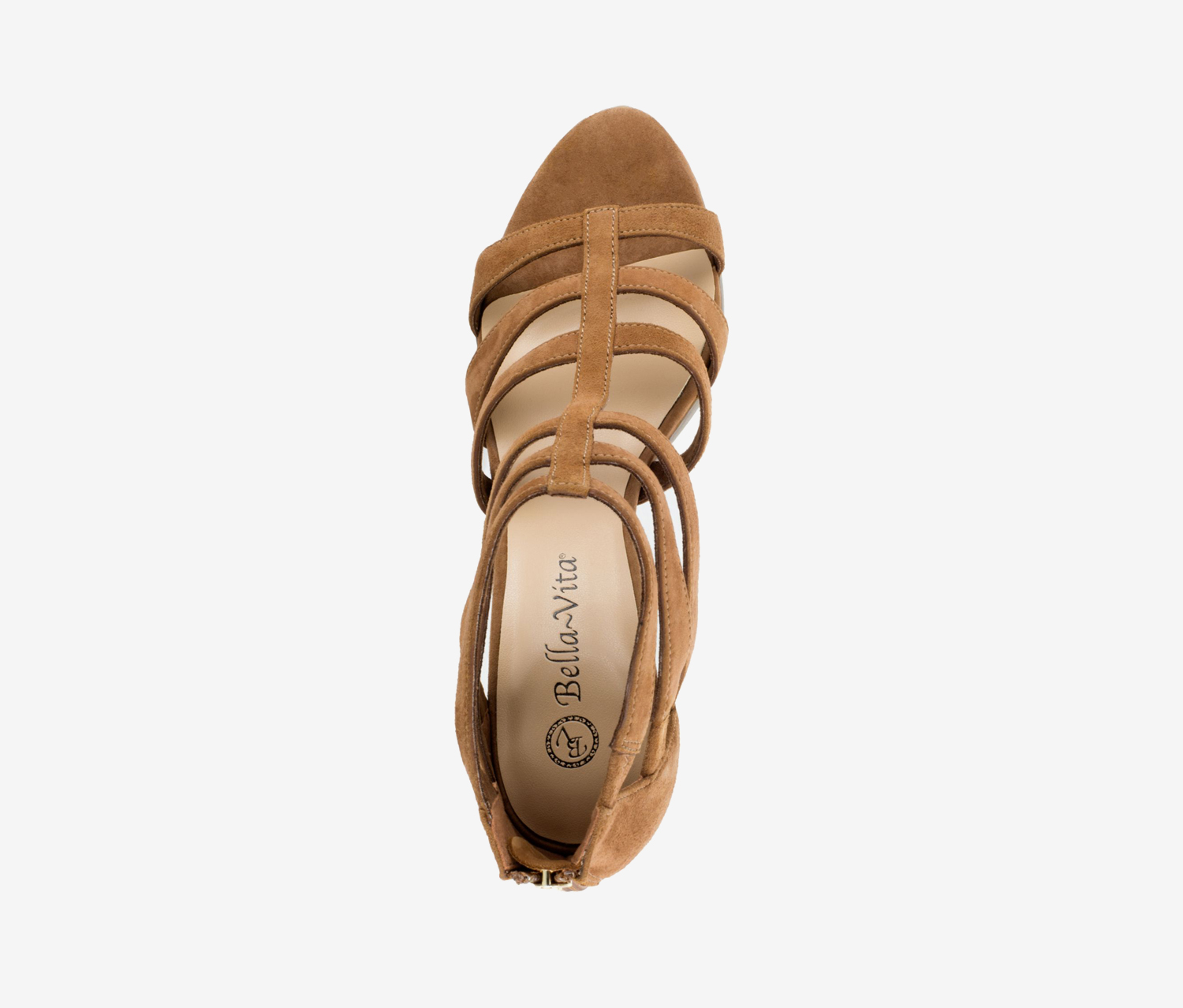 Details about  /Bella Vita Leah Strappy High Heel Sandals Biscuit Suede Leather NEW WITHOUT BOX