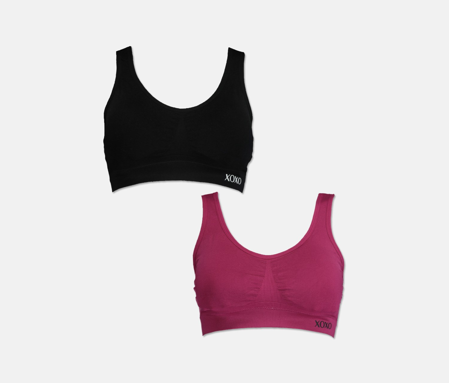 Reebok Girls Nylon//Spandex Seamless Active Sports Bra with Removable Pads 4 Pack
