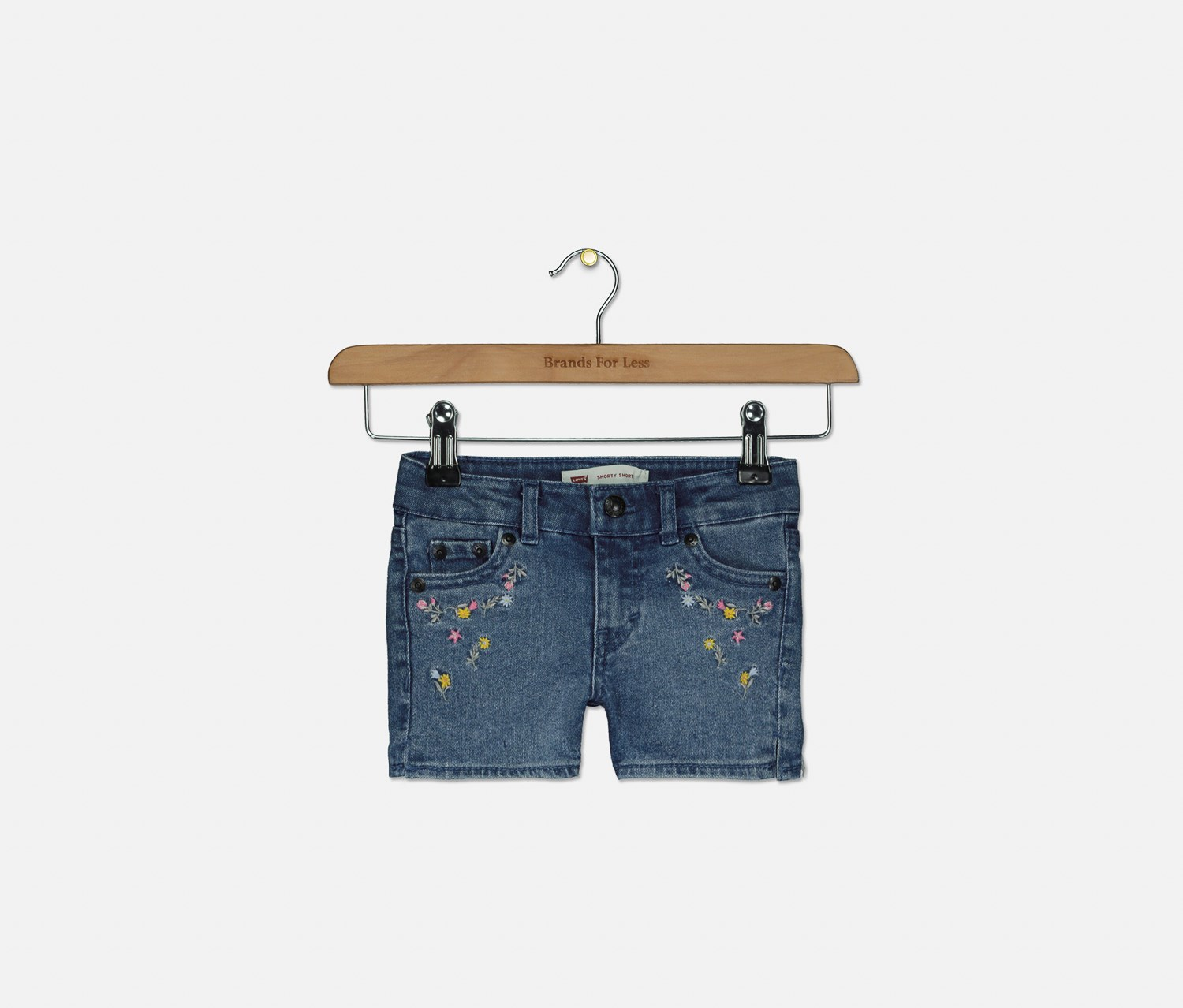 Toddler Floral Patched Distressed Shorts