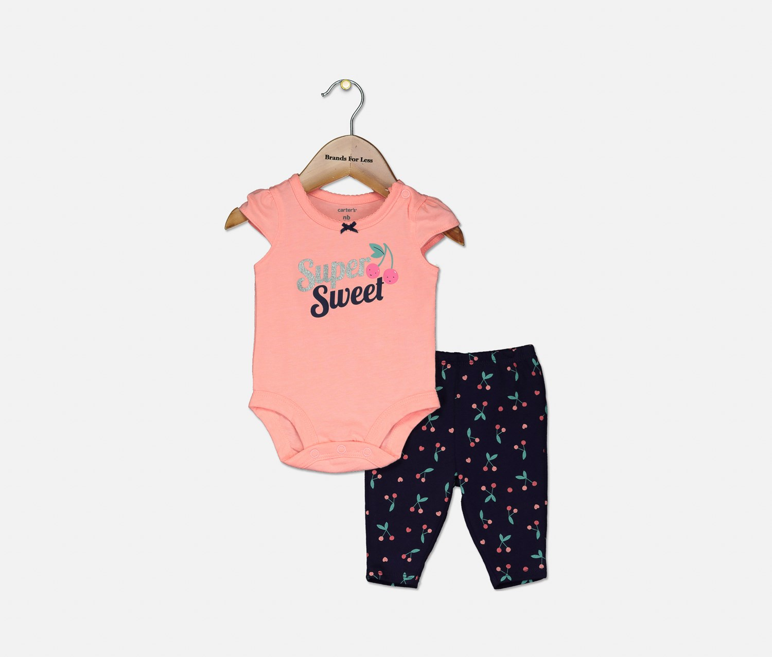 Carter/'s Baby Girl Pink Cherry All In One Jumpsuit Size 9M//12M//18M