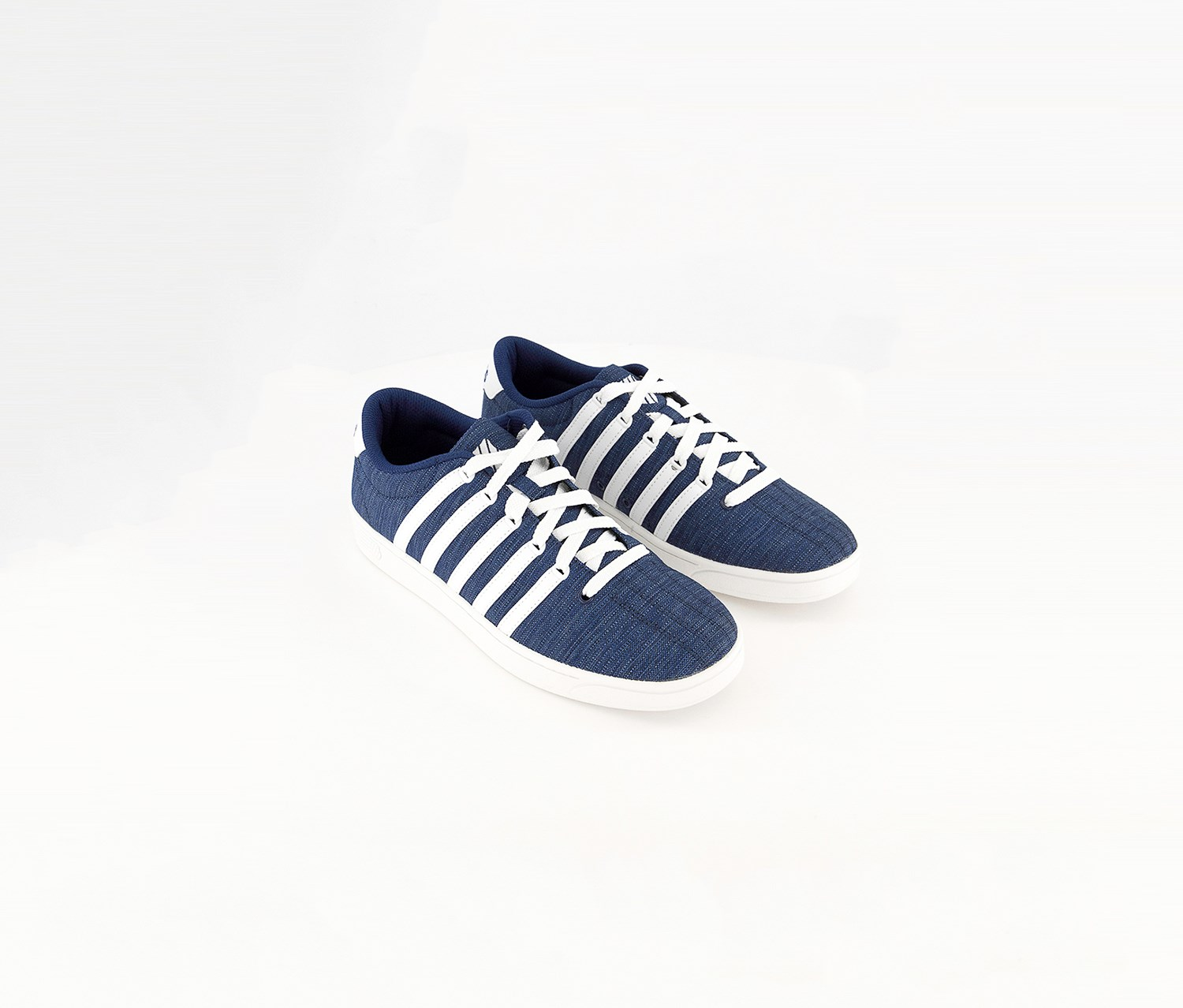 K Swiss Court Pro II Trainers Mens Blue//White Cashual Lace Up Memory Foam Shoes