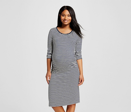 29a19047dd2 Shop Liz Lange Liz Lange Maternity Stripe 3 4 Sleeve Dress