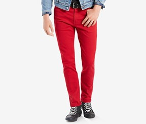 Levi's Men's 510 Skinny Fit Jeans, Red