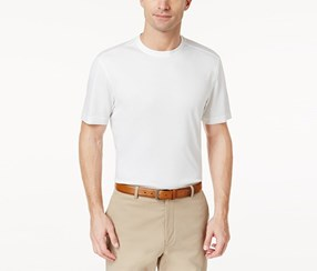 Tasso Elba Men's Supima Blend Classic-Fit T-Shirt, White Pure