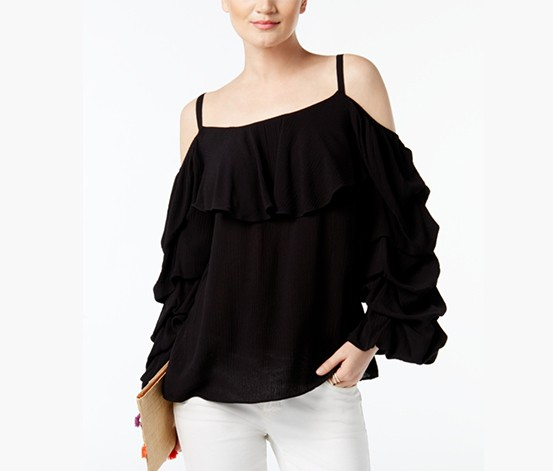 29aa712418f568 Shop INC INC International Concepts Cold-Shoulder Top, Deep Black for Women  Clothing in Lebanon - Brands For Less
