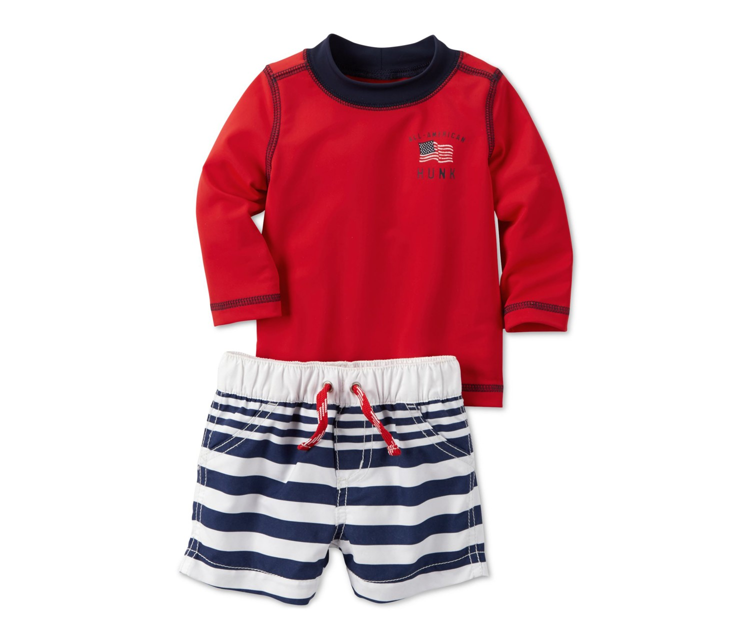 74df7247d026f Shop Carters Carters Baby Boys 2-Piece Swimwear, Red for Toddlers ...