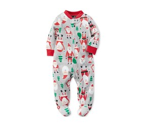 Carter's Baby Boys All Over Santa Footie, Red Multi