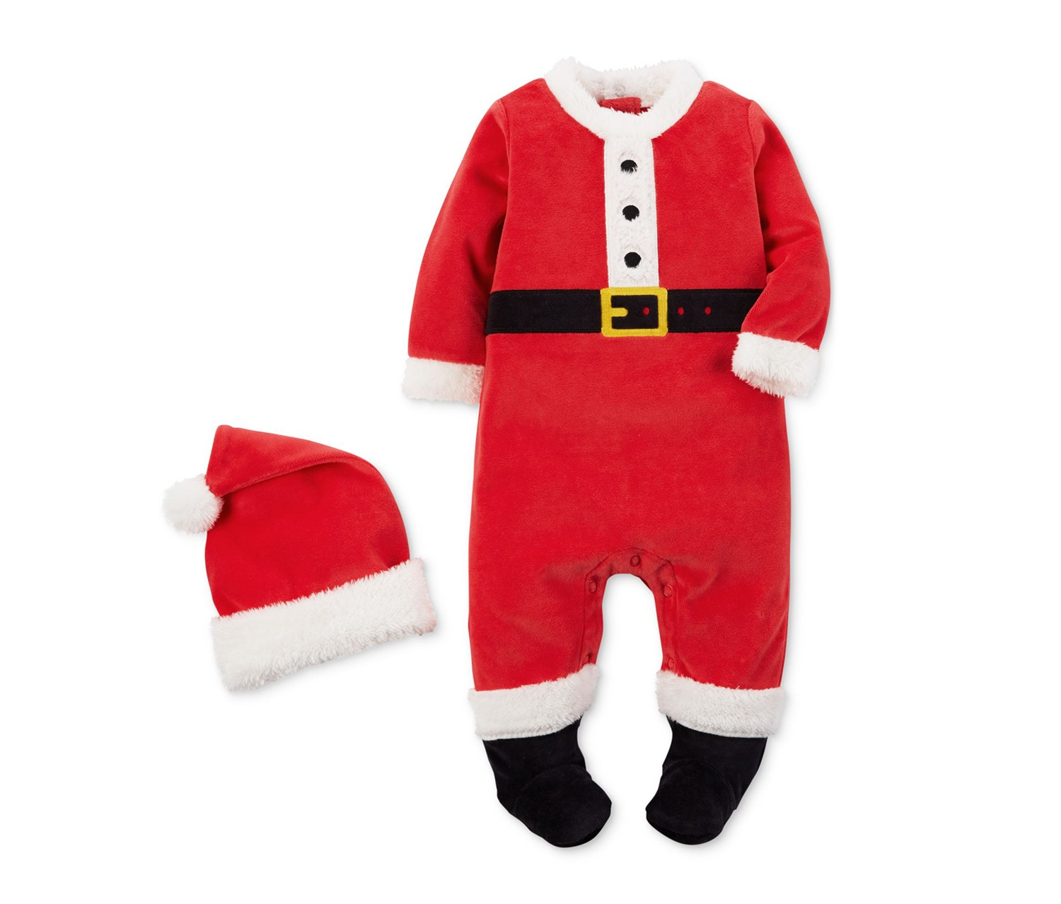 760ee80671a ... Babies Bodysuit Carter s 2-Pc. Santa Hat   Footed Coverall Set