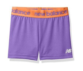 New Balance Girls Pull-On Sports Short, Purple/Coral