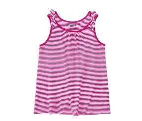 Crazy Girls Stripe Tank Top,Fuchsia