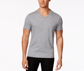 Alfani Slim Fit V-Neck T-Shirt, Charcoal