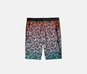 Men's Ombre Abstract-Print Hybrid Shorts, Multi