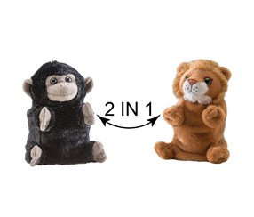 Switch A Rooz Gorilla/Lion Plush, Black/Brown