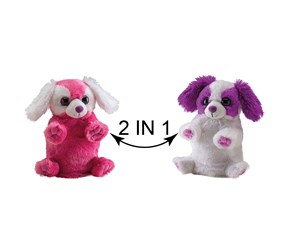 Switch A Rooz Puppy Hugs and Kisses Plush, Pink/White