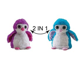 Switch A Rooz Penguin Plush, Pink/Blue