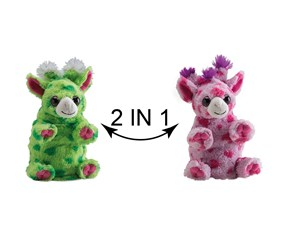 Switch A Rooz Giraffe Tootie and Fruitie Plush, Pink/Green