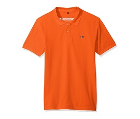 Southpole Men's Classic Short Sleeve Solid Polo Shirt, Orange