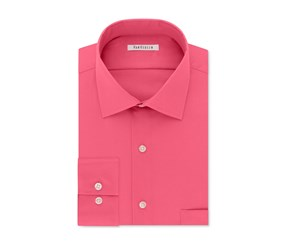 Van Heusen Men's Stretch Solid Dress Shirt, English Rose