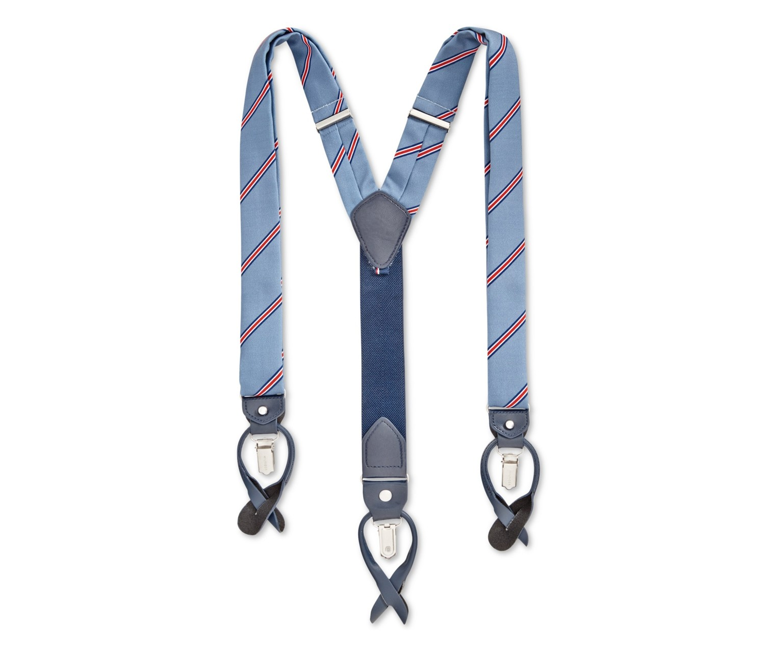 One Size Tommy Hilfiger Men/'s Khaki Solid Stretch Convertible Suspenders
