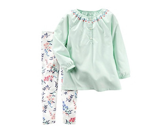 5358333859a8a Shop Carters Girls 2-Pieces Tunic And Floral Leggings Set, Multi for ...