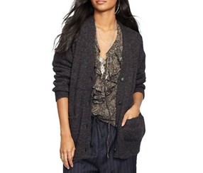 Denim & Supply Ralph Lauren Wool V-Neck Cardigan, Grey