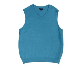 Club Room Cotton Vest, Cerulean