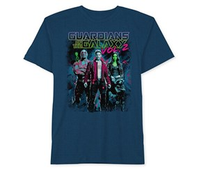 Marvels Guardians Graphic-Print T Shirt, French Blue